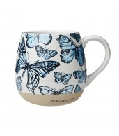 Robert Gordon Hug Me Mug - Blue Butterflies Bromley
