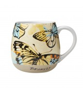 Robert Gordon Hug Me Mug - Yellow Butterflies Bromley