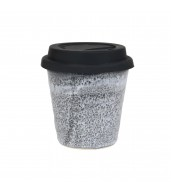 Small Carousel Cup with Black Lid - Storm