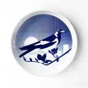 Piping Shrike Porcelain Plate