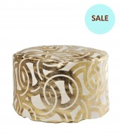 Links Gold Foil Tuffet Small