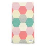 Honey Bassinet Blanket Merino Wool - Peony