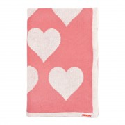Lots Of Love Bassinet Blanket Combed Cotton - Blossom