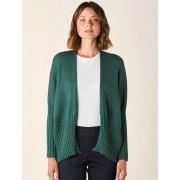 Merino Wool Quinn Short Cardigan- Emerald