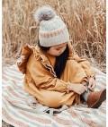 Alice Merino Wool Kids Beanie - Wheat