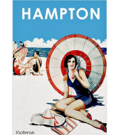 Hampton Beach Vintage Art Print