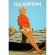 Hampton Vintage advertising Art Print