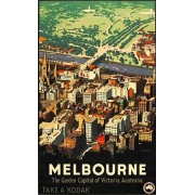 Melbourne State Vintage Advertising Art Print