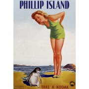 Phillip Island Vintage Advertising Art Print