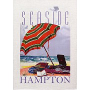Seaside Hampton Vintage Advertising Tea Towel