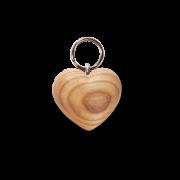 Natural Wood Keyring - Heart