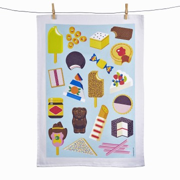 Tea Towel - Aussie Snacks